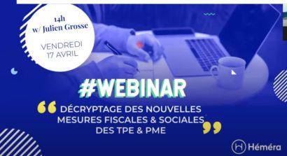 Webinaire : Décryptage des nouvelles mesures fiscales & sociales des TPE/PME
