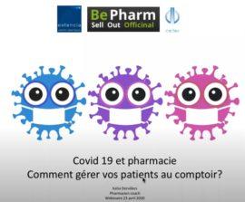 Webinaire Pharmacie : Gérer vos patients au comptoir (Covid-19)
