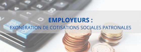 COVID-19 : Mesure d'exonération de cotisations sociales patronales